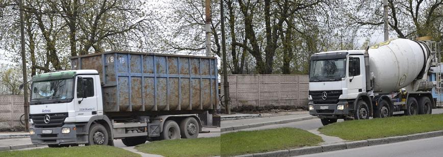 Вывоз строительного мусора, доставка бетона миксером